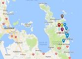Mercury Bay Art Escape - Coromandel artists map