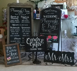 Wedding Chalk Art Order