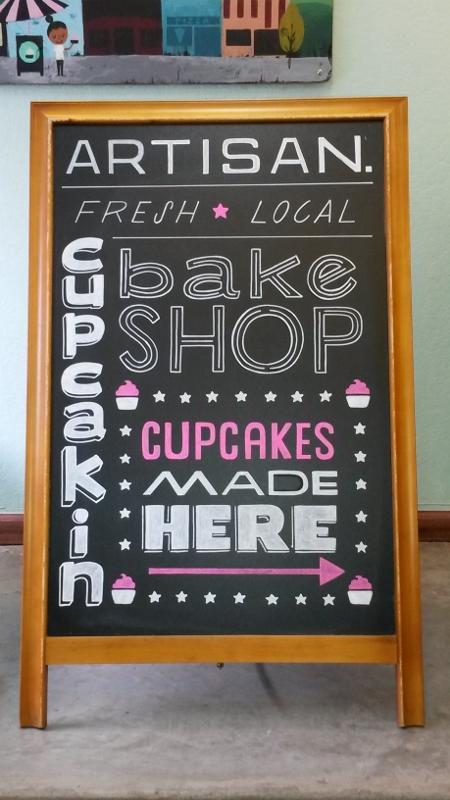 Cupcakin Bake Shop A-Frame Design