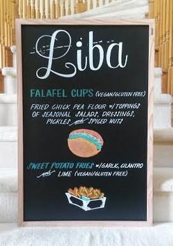 Liba Food Truck Menu