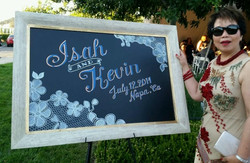 Wedding Welcome Board on Display