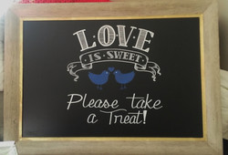 Wedding Dessert Table Chalkboard