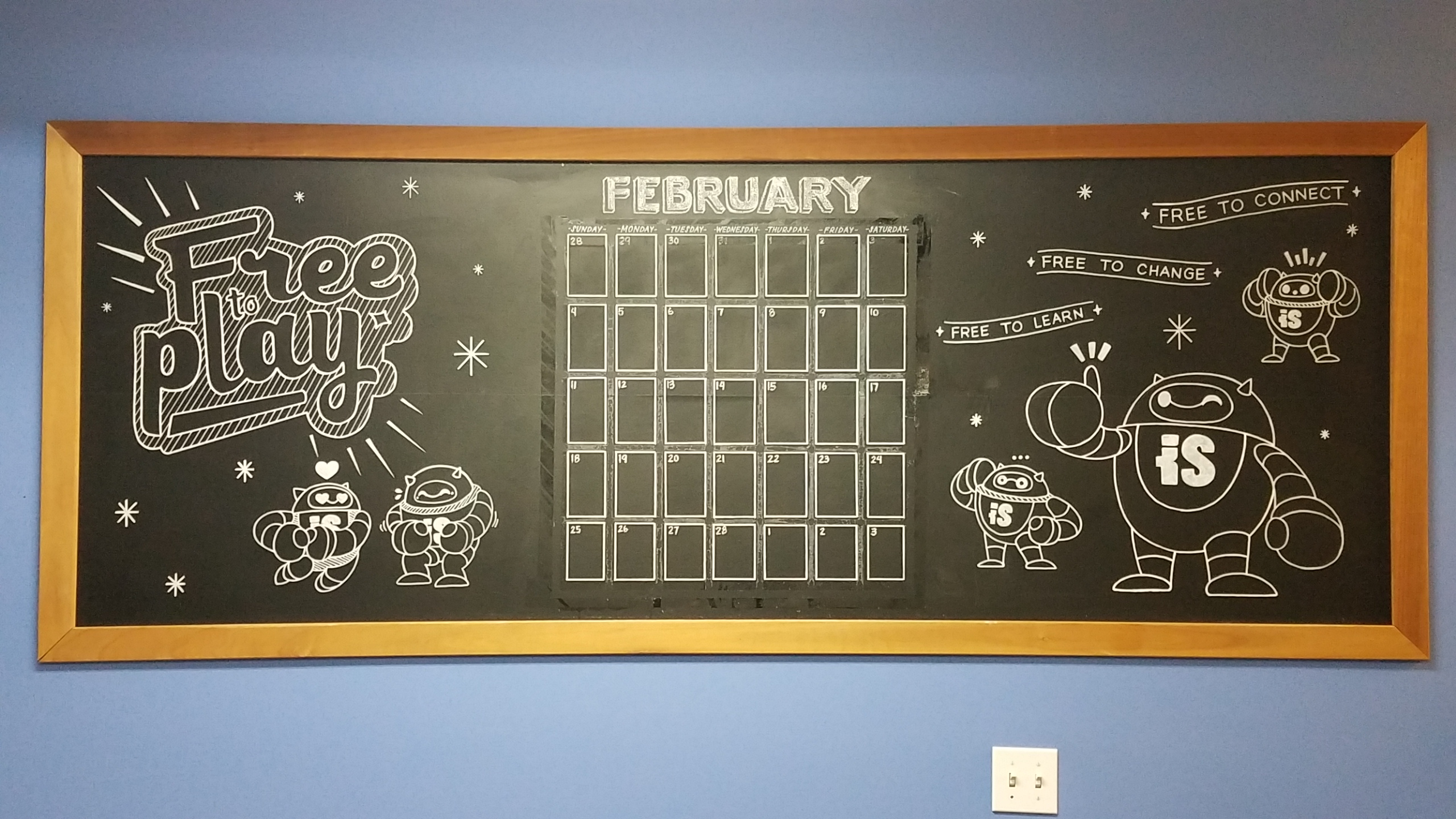 Office Calendar Chalkboard