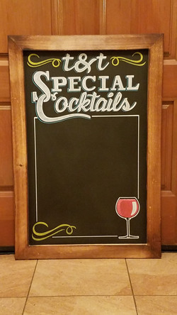 Special Cocktails Border Signage