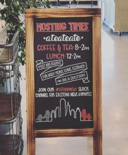 Airbnb Cafe Sign
