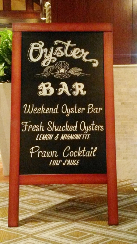 Oyster Bar Chalkboard Sign