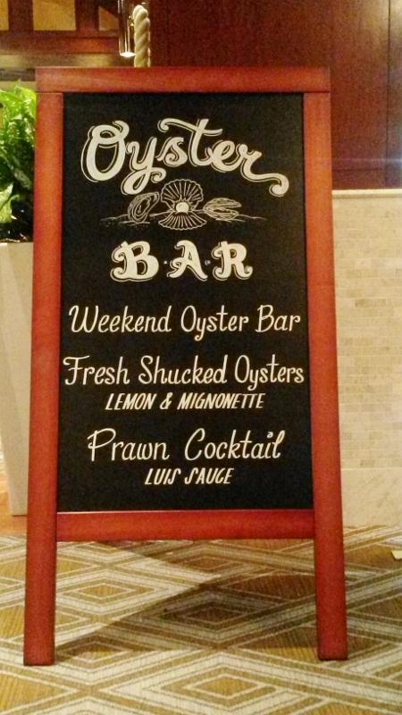 Oyster Bar Chalkboard Sign