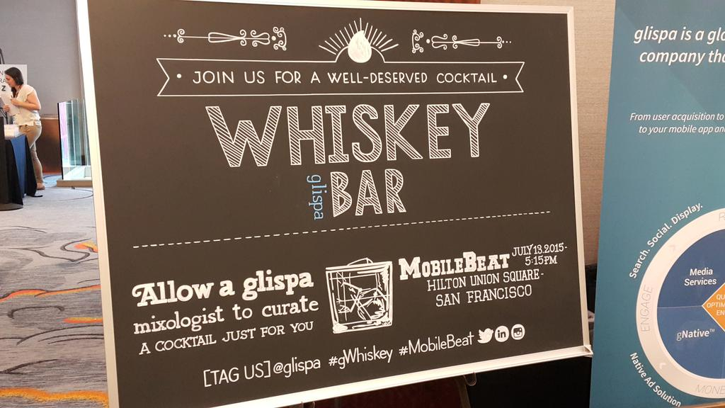 Whiskey Bar Chalkboard Art