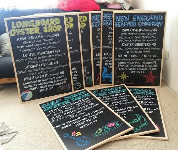 SF Oysterfest Menu Signage