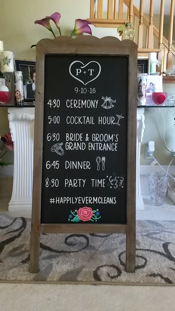 Wedding Schedule Design