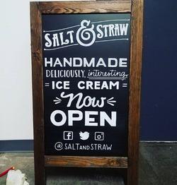 Salt & Straw A-Frame Signage