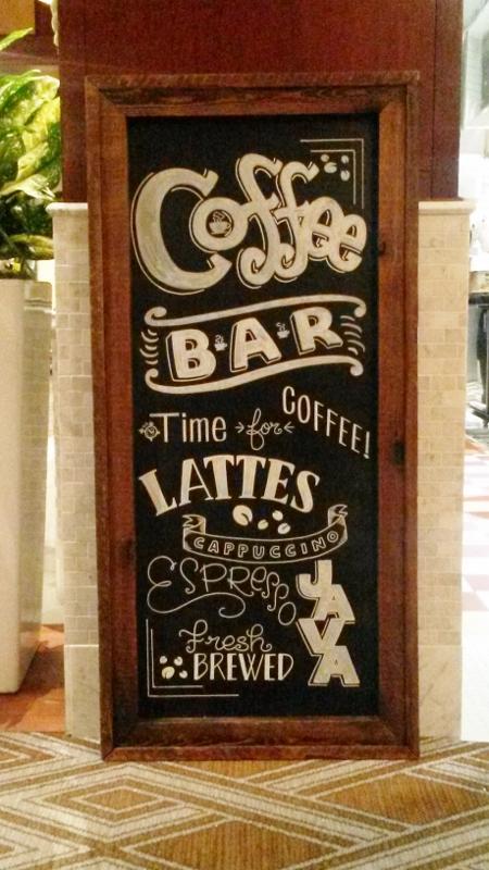 Coffee Bar Chalkboard Sign