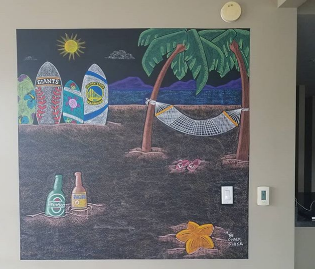 Residential Chalk Art Design