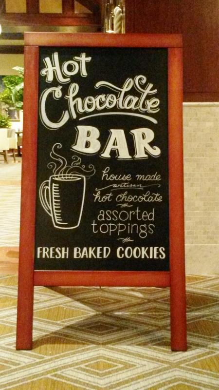 Hot Chocolate Bar Chalkboard Sign
