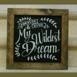 Wedding Love Quote Chalk Design
