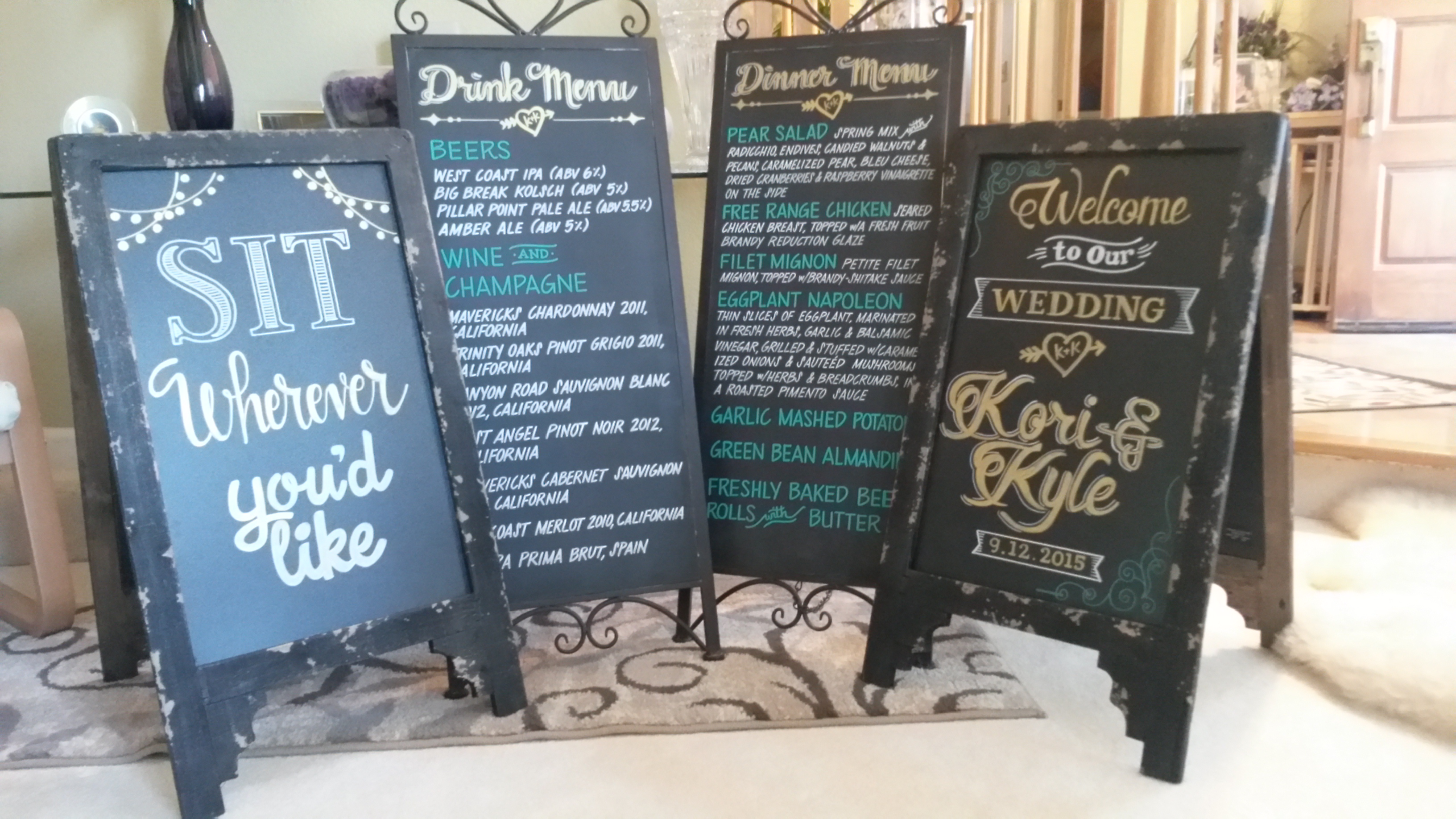 Wedding Chalkboard Order