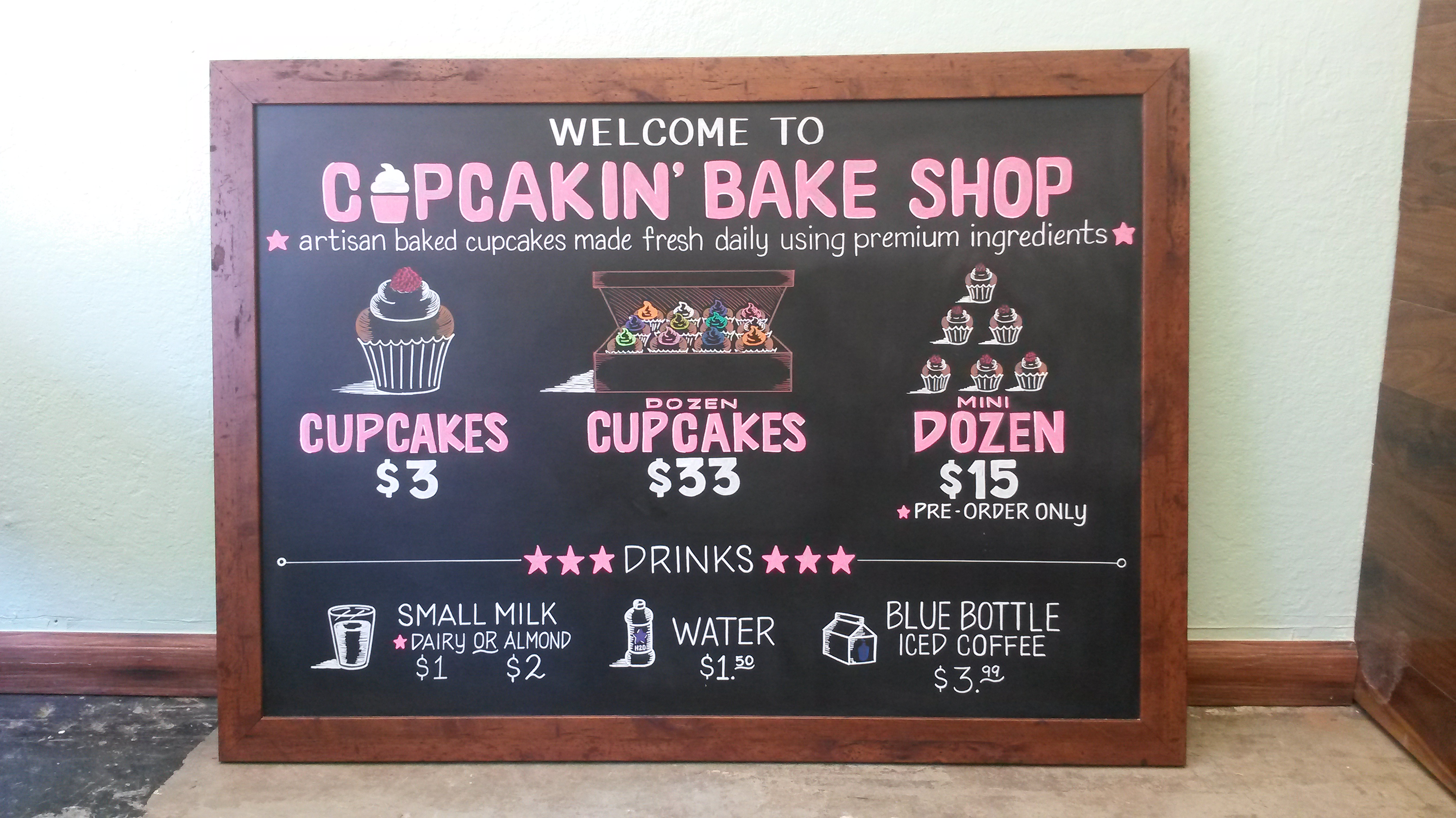 Cupcakin' Bake Shop Menu Design