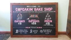 Cupcakin' Bake Shop Menu Design