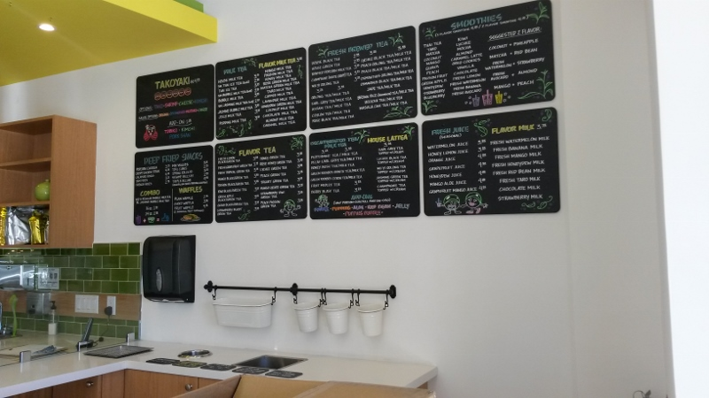 Menu Design for Mr. Green Bubble