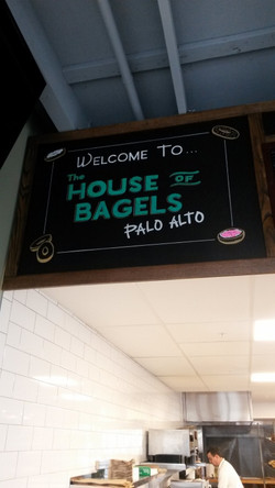 House of Bagels Welcome Sign