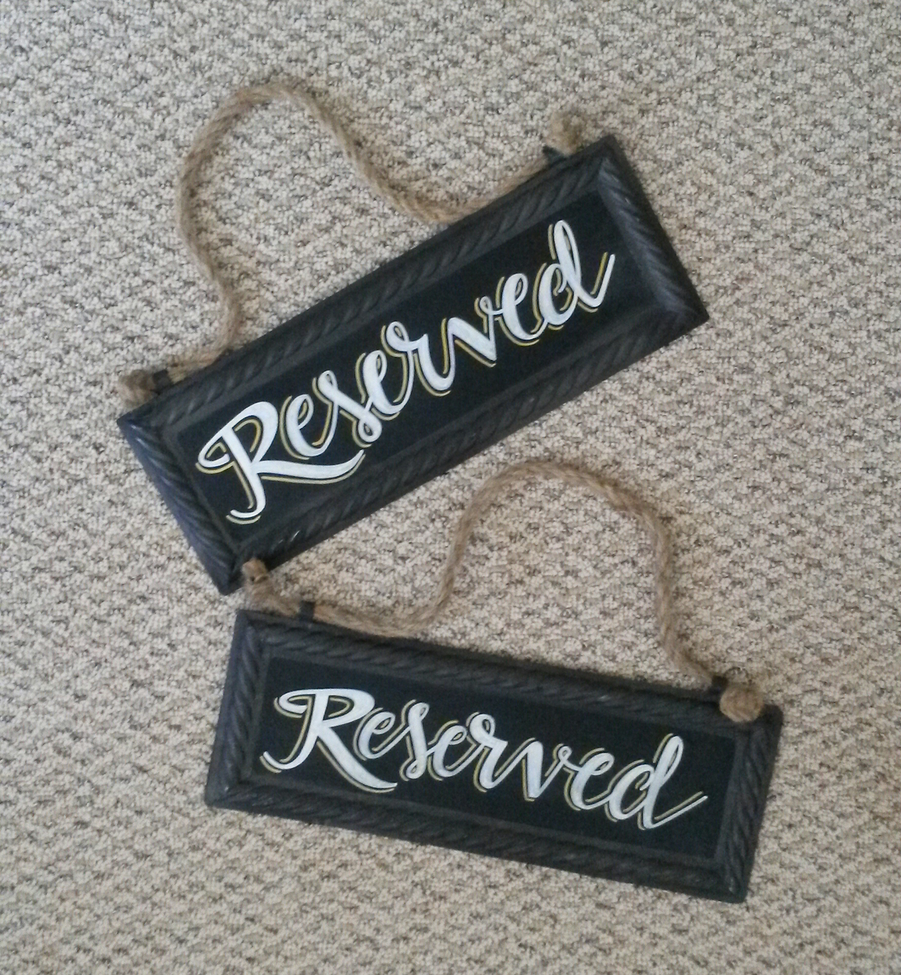 Wedding Reserved Signage