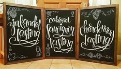 Wine Tasting Event Signage