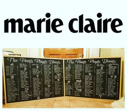 Marie Claire Event Seating Chart