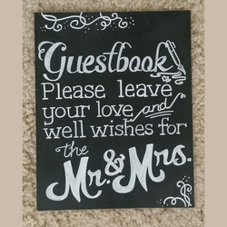 Philip & Ashley Guestbook Signage