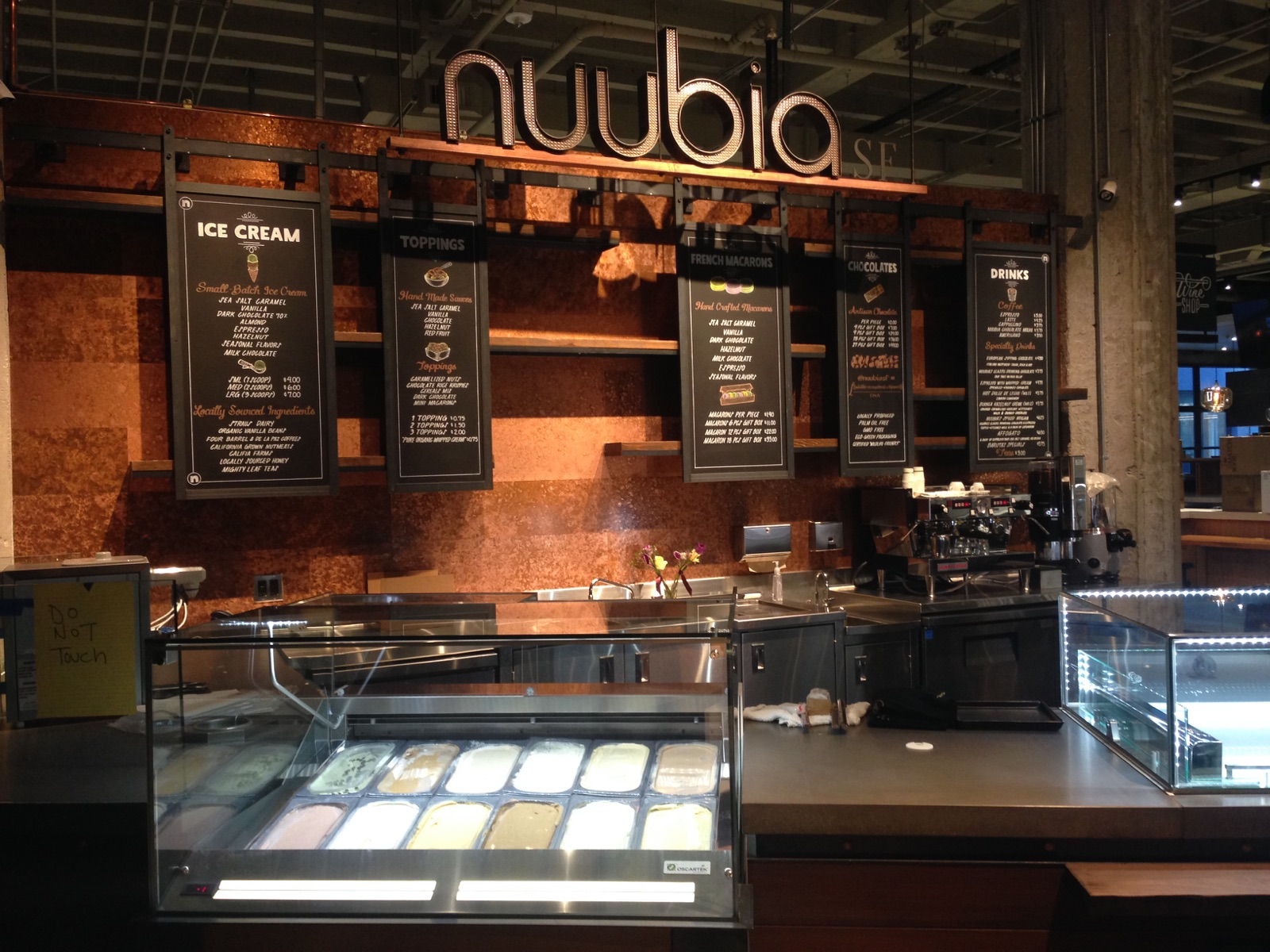 Nuubia SF Menu Chalkboards