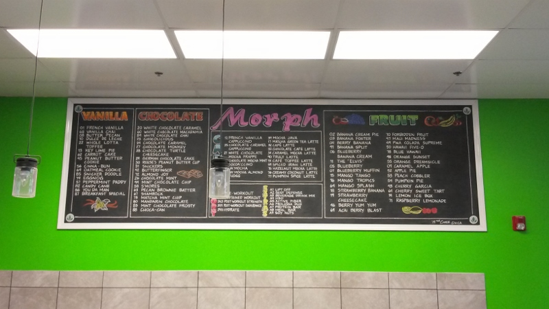Morph Gym Smoothie Menu