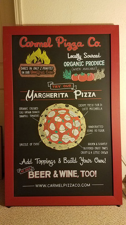 Pizzeria A-Frame Sign