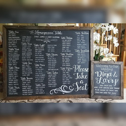 Wedding Seating Chart & Welcome Sign