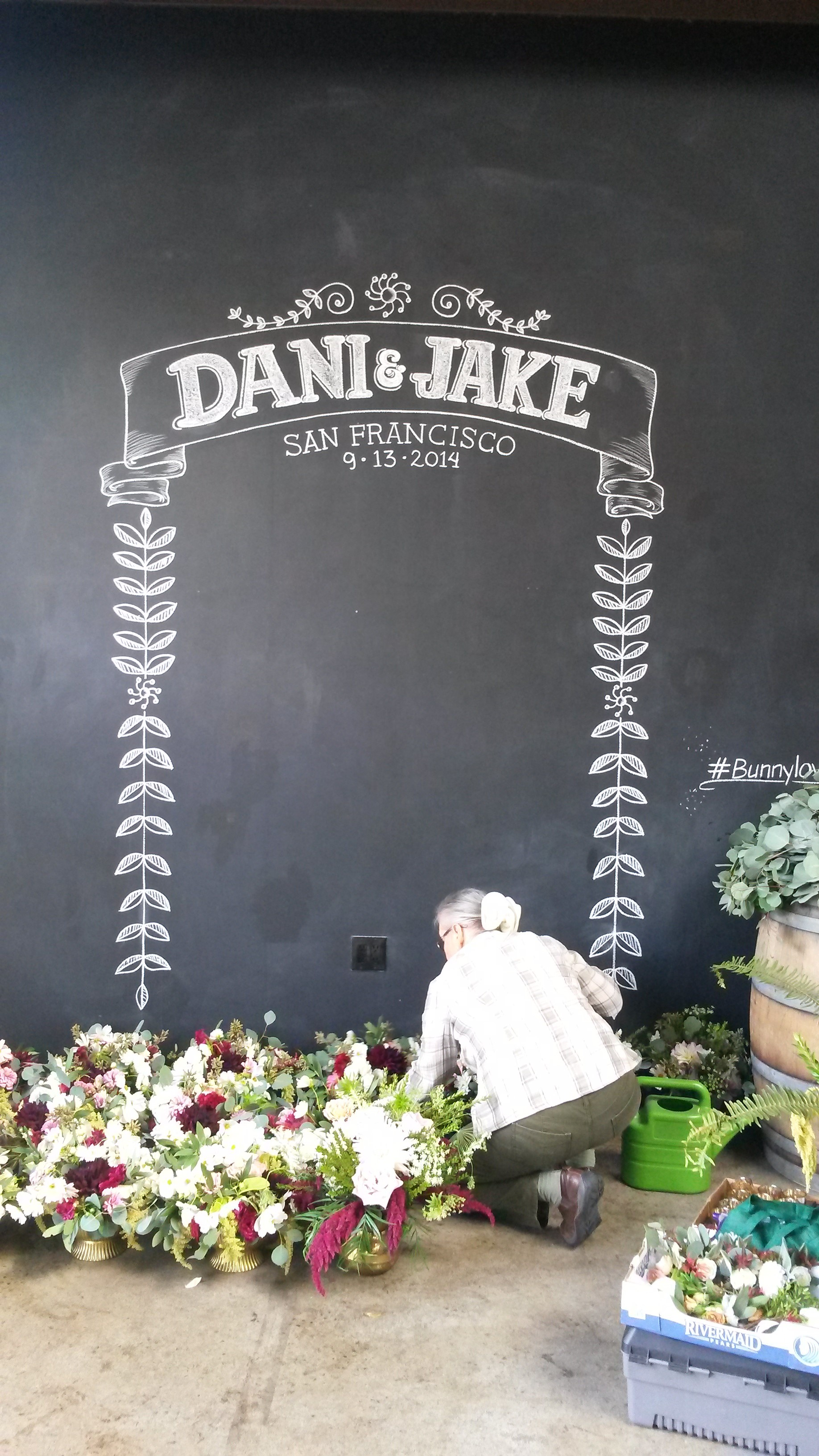 Dani & Jake Photo Booth Chalk Design