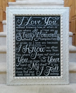 Wedding Love Quote Design