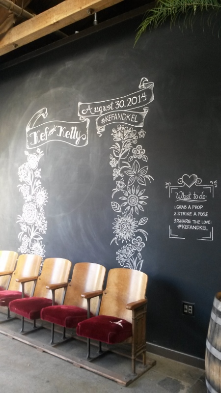 Wedding Photo Booth Chalk Art