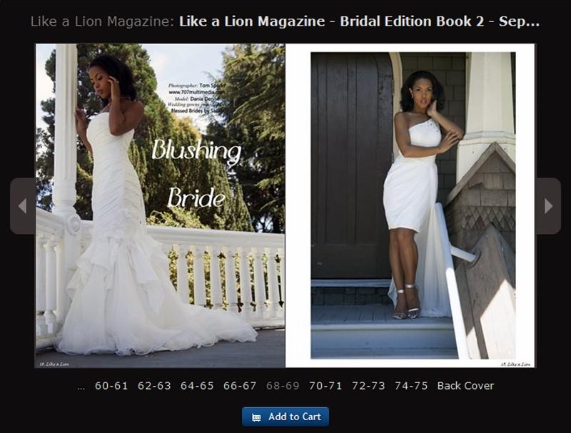 Like a Lion Bridal Magazine Tearsheet