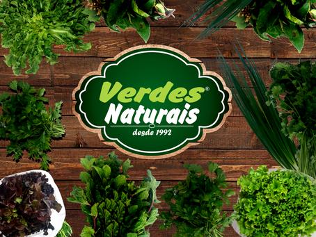 Verdes Naturais, desde 1992 levando qualidade e saúde para os mais deliciosos pratos.