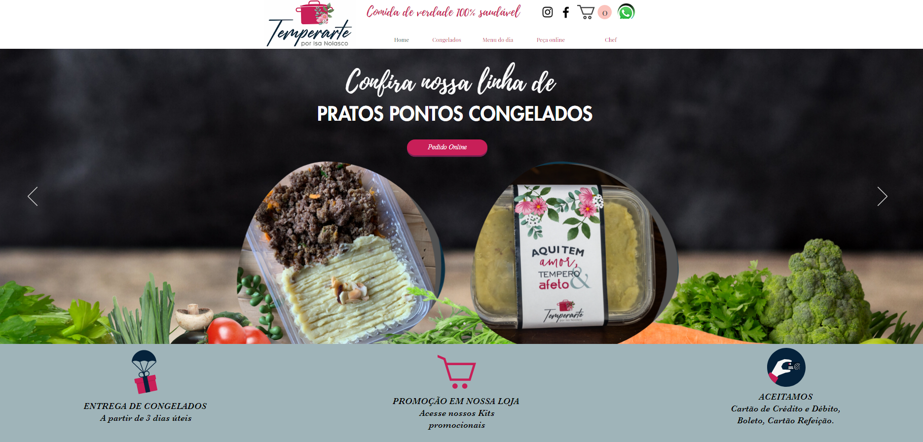 LOJA VIRTUAL ECOMMERCE TEMPERARTE DESENV