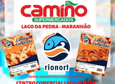 Rionort Pescados na inauguração do supermercado Camiño em Lago da Pedra Maranhão.