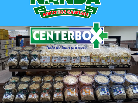 Nanda Biscoitos na inauguração do Center Box.