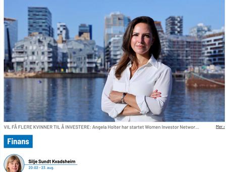 Finansavisen.no - Women Investor Network leter etter investeringslystne kvinner