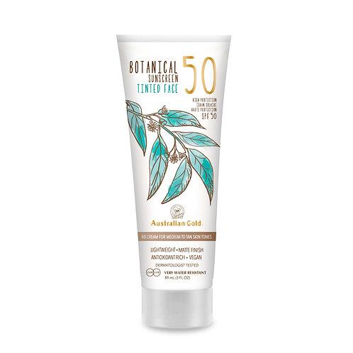 Australian Gold Botanical Sunscreen SPF 50 Tinted Face Medium-Tan