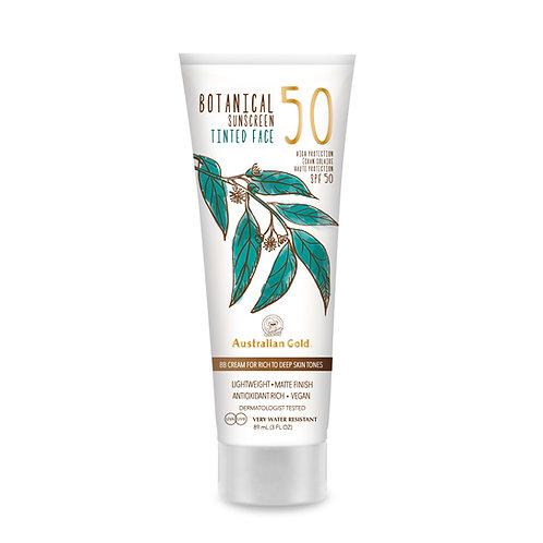 Australian Gold Botanical Sunscreen SPF 50 Tinted Face Rich-Deep