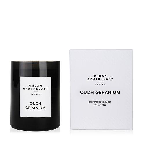 Urban Apothecary Oudh Geranium Scented Candle