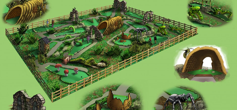 Adventure golf design