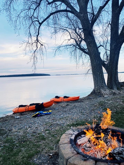 Fire Pit & Kayaks