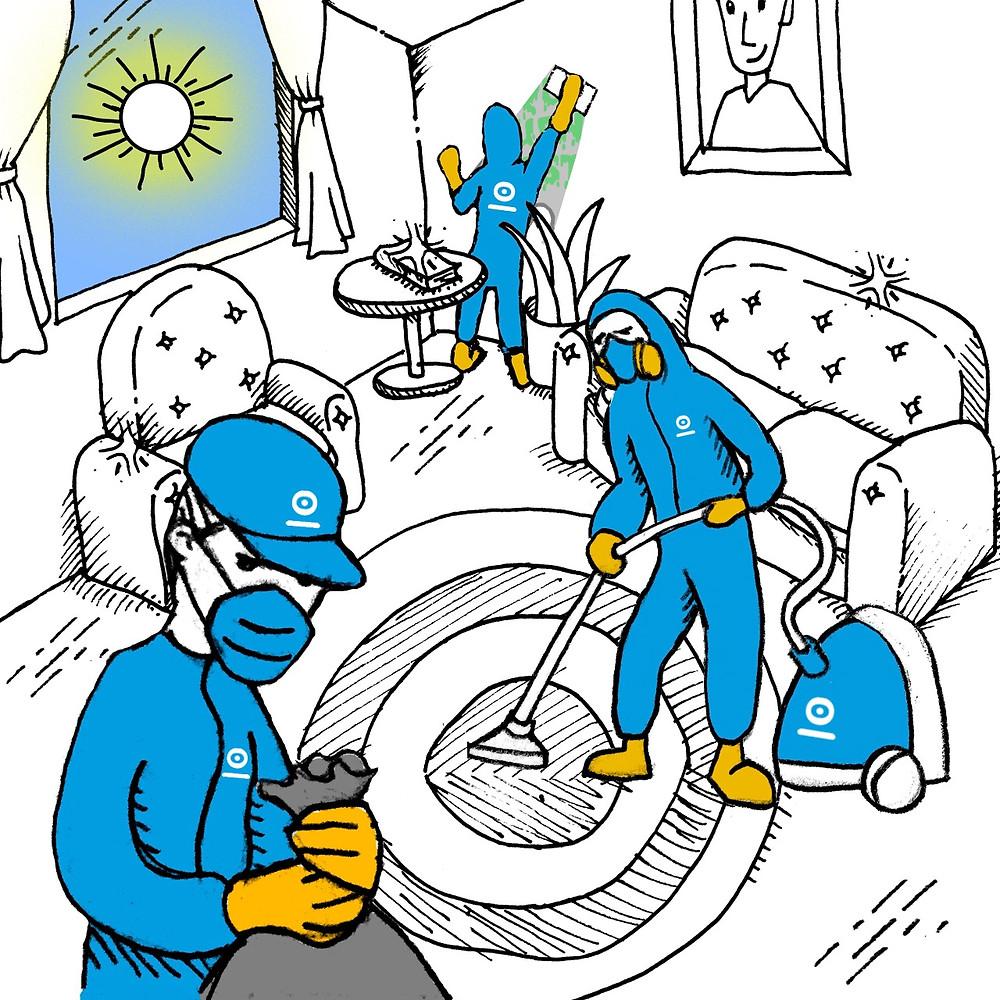 limpieza post fiesta