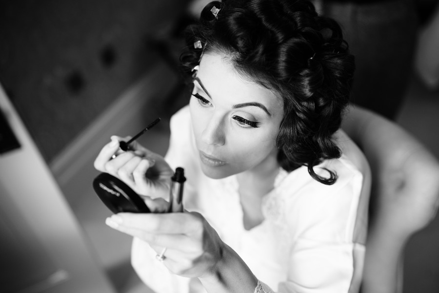 Preparing my own makeup for my wedding