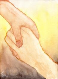 Hij houdt mij vast