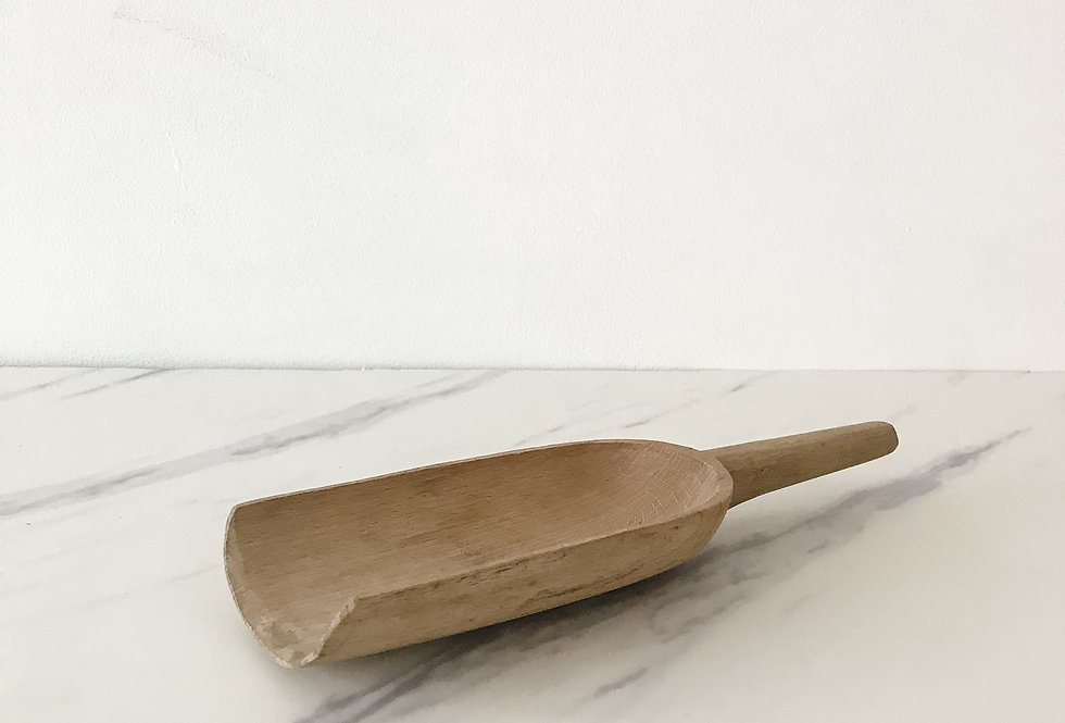 Vintage Light Wood Scoop